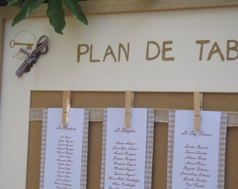 Table |mariage dentelle| plan format XL (52 X 72cm)
