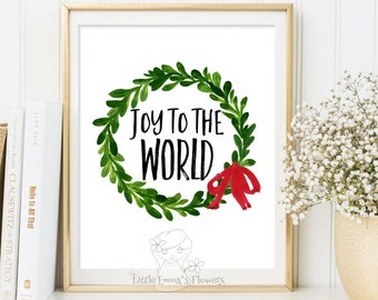 Exceptionnel Christmas Print Holiday Art Decor Christmas Wall Art Printable Green Winter  Decor Holiday Art Decoration Print