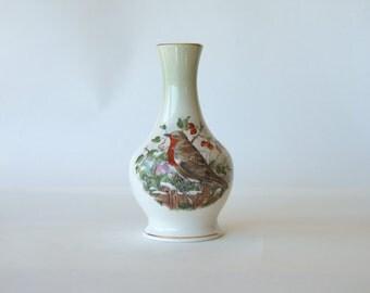 Royal Worcester vase, Palissy vase, Spode vase, vintage vase, vintage Spode, Vintage Spode vase, home decor, robin vase, winter vase
