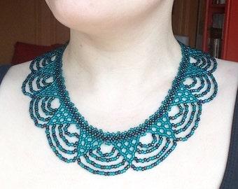 Deep Ocean Collar Statement Necklace