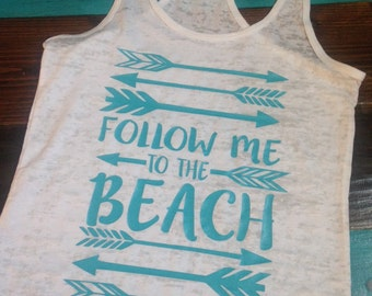 Take me to the beach tank Workout Tank / Fitness Tank