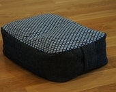 True Cotton Indigo Meditation Cushion with Organic buckwheat hull filling