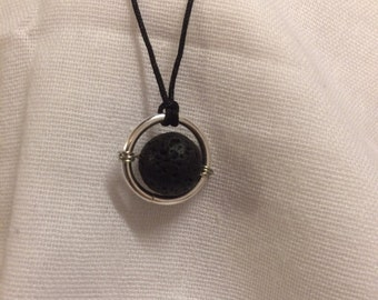 Handmade, Reiki charged lava stone diffuser necklace