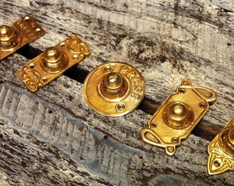 1 x Brass Door Bell Push (5 different styles to choose from)