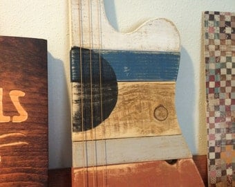 Wooden Guitar Art