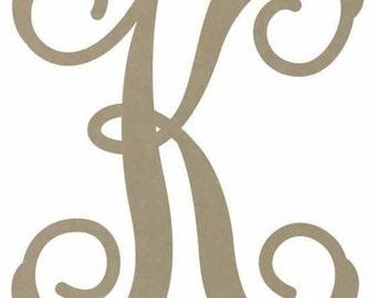 14 inch Monogram Letter, Wreath Inital