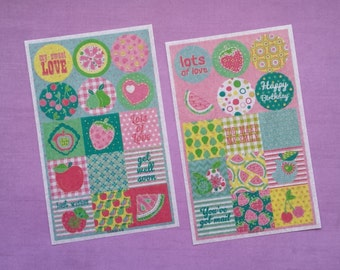 Washi stickers (2 sheets)
