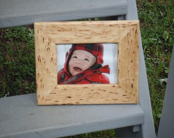 Hard Maple with Ingrown Bark Markings Picture Frame