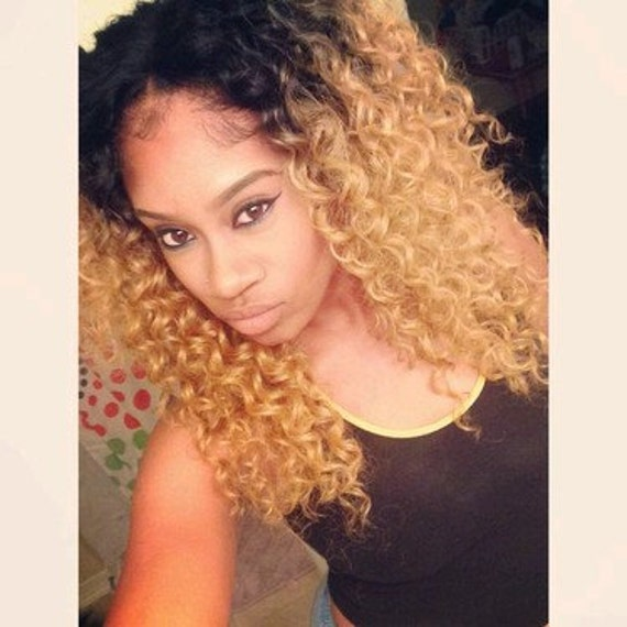 Kinky curly curl brazilian ombre dip dye human double weft like this item pmusecretfo Images