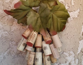 Two Handmade Grape Wall Handing Decoration made from corks