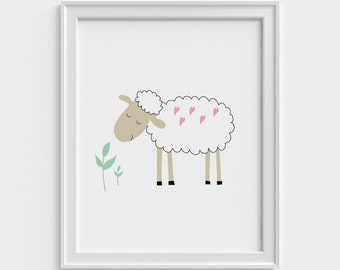 Nursery art print, kids art print, baby art print, animal, animal art print, art print, children art print, kids wall art,