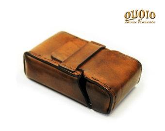 20 Cigarette Packet Leather Case, Cigarette Italian Leather Case, Jumbo Business Bank Card Holder - Art.MISC040
