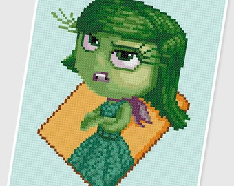 PDF Cross Stitch pattern - 0036.Disgust ( Inside Out ) - INSTANT DOWNLOAD