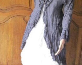 roshanara coat vintage grey