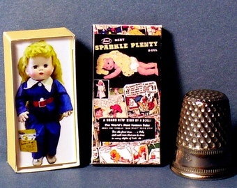 Sparkle Plenty Doll Box  -  Dollhouse Miniature - 1:12 scale - Dollhouse Accessory - 1940s Dollhouse girl toy - Miniature doll box replica