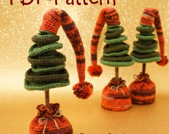 Crochet pattern Christmas Tree Amigurumi Instant Download PDF 13 pages