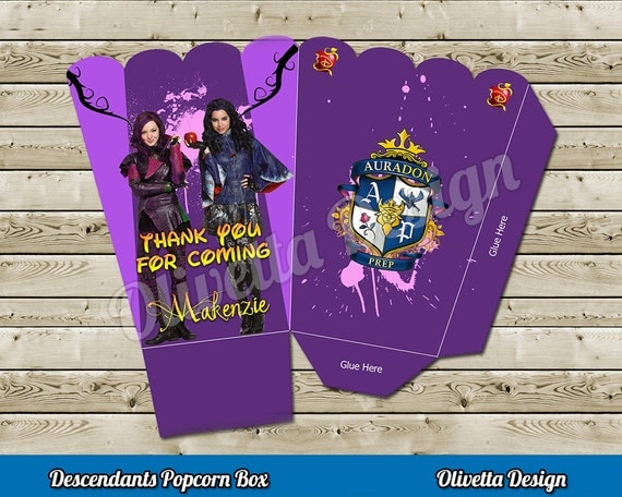 Disney Descendants Popcorn Box
