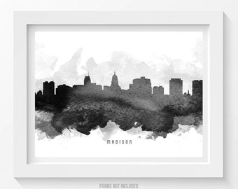 Madison Skyline Etsy