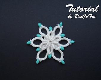 Tatting Pattern - Pendant Tutorial – Ankars - Frivolite - Make your own pendant - DIY - Necklace pendant - Under 2 - Gift for her