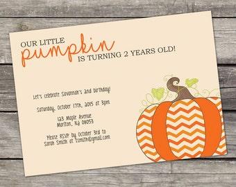 Little Pumpkin Birthday Party Invitations - Pumpkin Patch Invitation - Fall Birthday Invitation for Kids 145