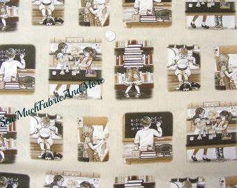 Growing Up Vignettes Fabric~By 1/2 yd~Elizabeth Studios~School~Students~Children~Tracy Lizotte~4307~cotton