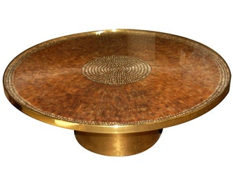 1160 Vintage Pheasant Feather Coffee Table by J. Robert Scott