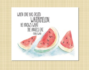 watermelon - the food of angels - art print