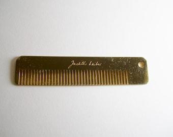 Judith Leiber Purse Comb Gold Tone
