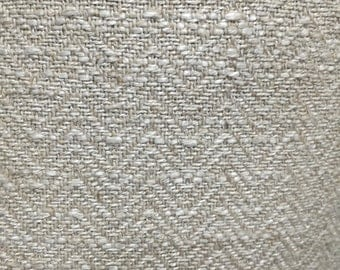 Oatmeal colored Herringbone Upholstery Fabric By The Yard - Textured Upholstery Fabric - Home Decor Upholstery Fabric.