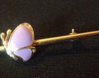 Purple Butterfly Pin/Brooch