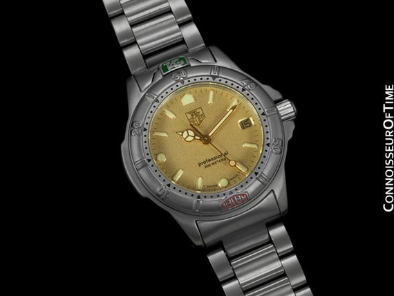 Tag heuer professional 4000 mens midsize diver watch for Tag heuer divers watch