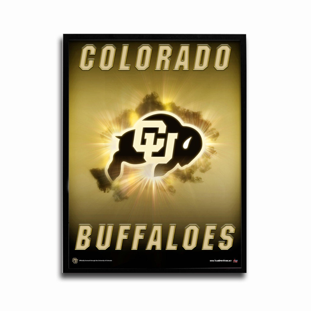Colorado Buffaloes Football Poster Sparkle Authentic Team