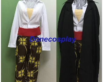 New arrival----Japan Anime  Shanks Cosplay Costume One Piece cosplay outfit men black costume
