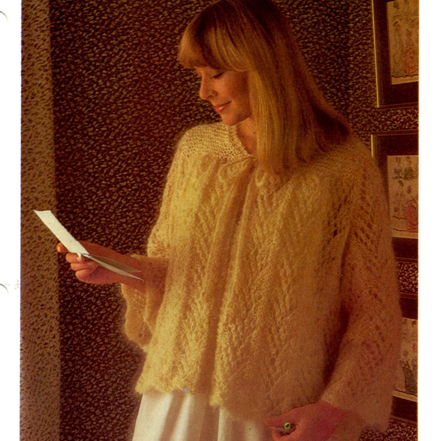 Vintage Lacy bed jacket knitting pattern in PDF instant