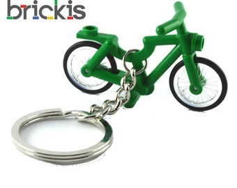 LEGO® keychain made with bicycle party favors