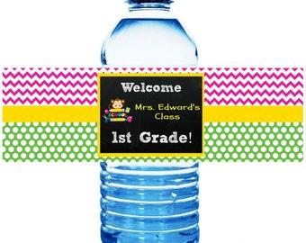 School Water Bottle Labels- DIY Printables