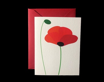 Red Poppies - Greeting Card