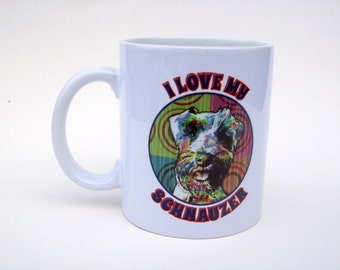 I Love My Schnauzer Coffee Mug