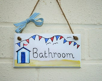 Bathroom plaque/sign all hand painted