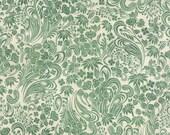 Evergreen Fabric. Wonderlust Green on Cream, Christmas Fabric from Basic Grey and Moda, Holiday Fabric