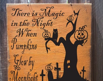 Halloween Sign, Pumpkin Sign, Halloween decor, holiday decor, Halloween Date decor, Halloween decoration, holiday sign, fall sign, 126/245