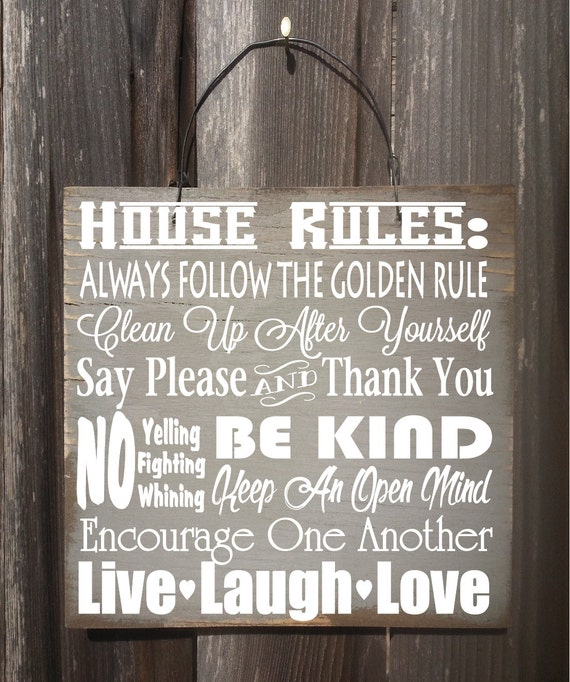 family sign, family, family rules, house decor, family sign wood, family sign home decor, family sayings