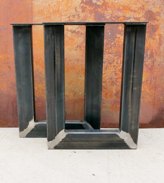 Industrial U Shape Metal Table legs 4x2 Inverted