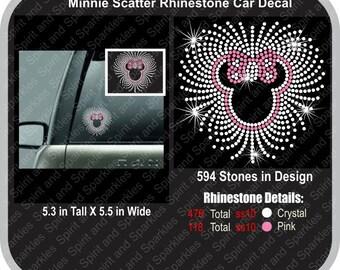 Minnie Scatter Rhinestone Car Decal