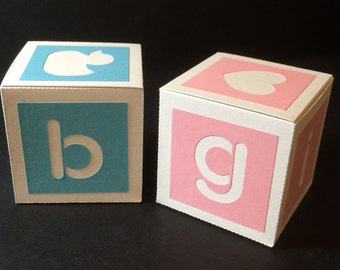 Baby Building Block Boxes.....SVG Digital Download...... Commercial Use Allowed