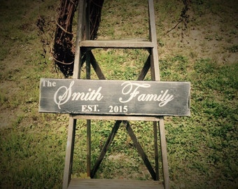 Family signs. Customized signs Established sign for your family. Wedding gifts. Rustic signs. Country signs. Family signs. Primitive signs.
