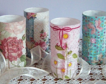 Flower vase decorated with floral patterns