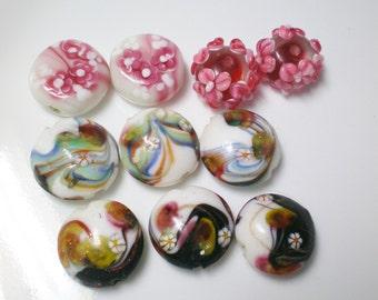 Destash...10 Assorted Lampwork Beads