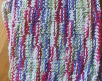 2 100% Cotton Home Knit Wash Cloths