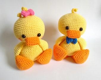 Handmade crochet amigurumi duck kawaii - READY TO SHIP -
